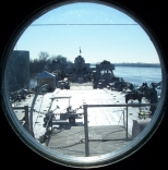 Porthole view of the deck of the LST-325 (click to enlarge)